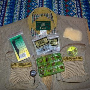 VTG Orvis fly fishing vest complete with fly kit!